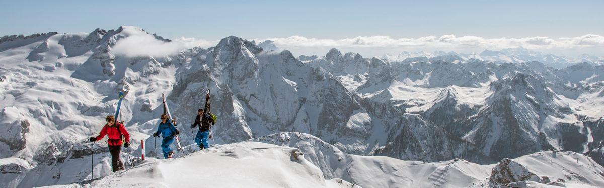 Ski Touring In The  Dolomites