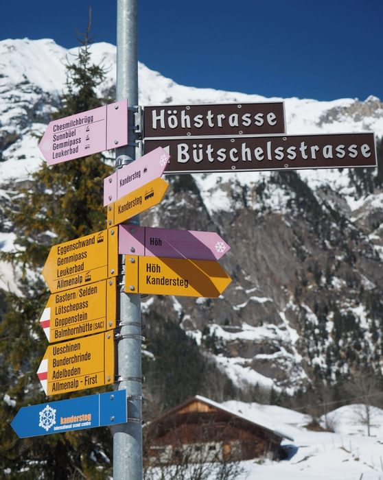 Swiss Walking Signpost