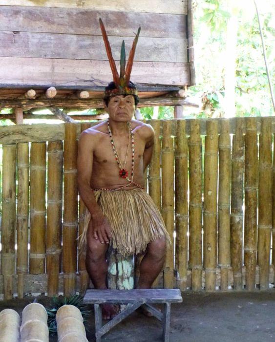 Shaman In  Ecuador Expedition Life