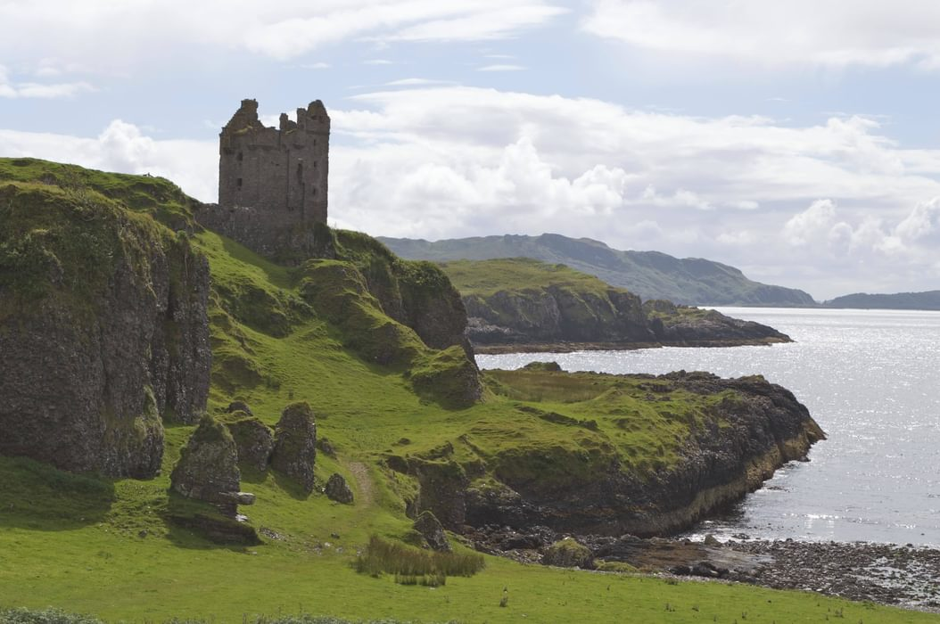 Kerrera  Gylen  Castle And Sea Stacks