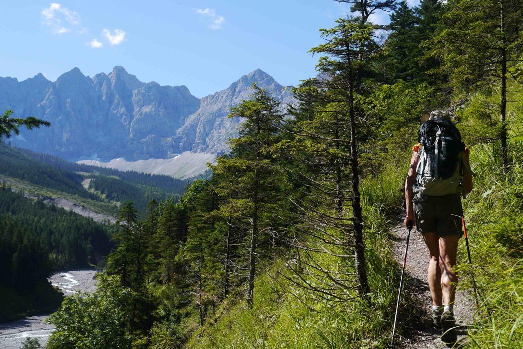 Approaching The  Karwendel