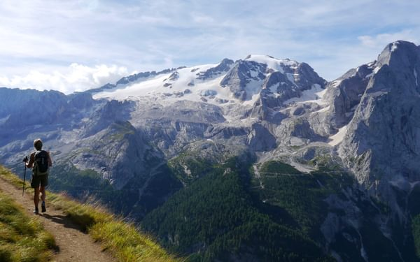 Marmolada In The  Italian  Dolomites
