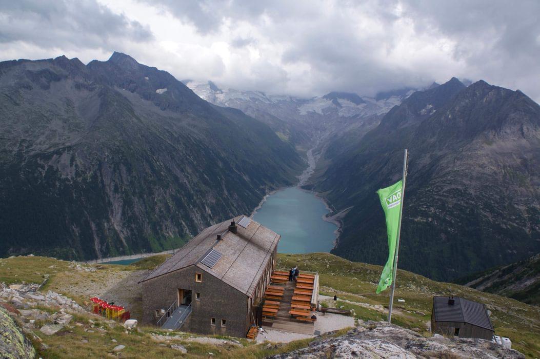 Olpererhutte In The  Austrian  Alps