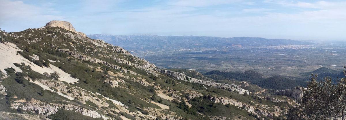 Montaspre Ridge And The Plains Below