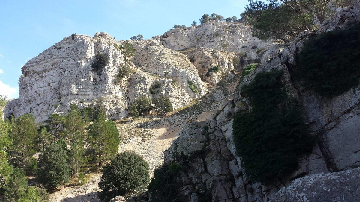Rocky Cliffs On The  Montaspre Ridge