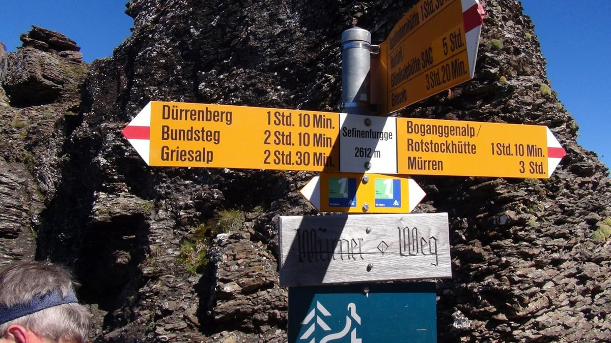 Signposts On  Via  Alpina 1