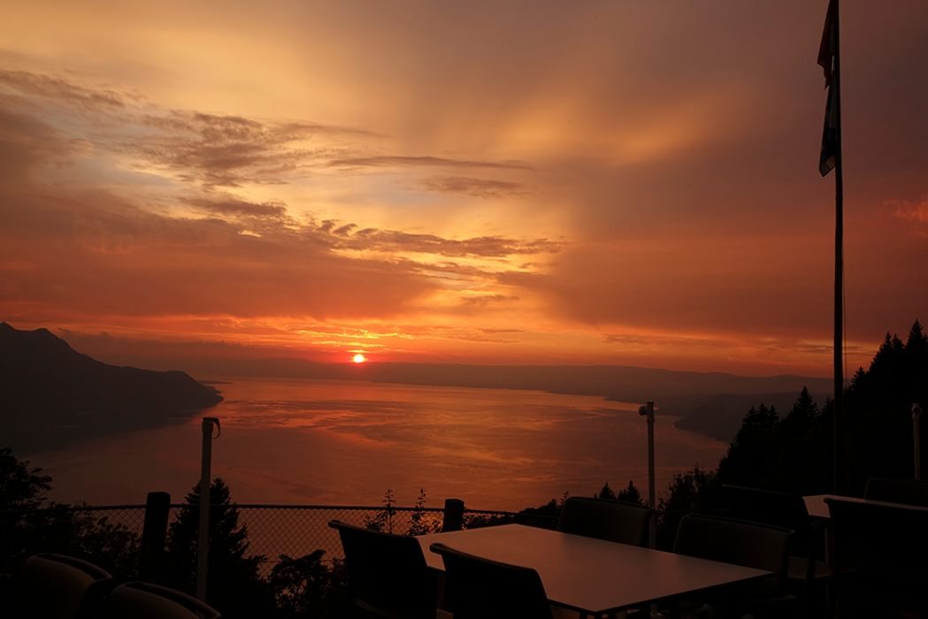 Sunset Above  Montreux
