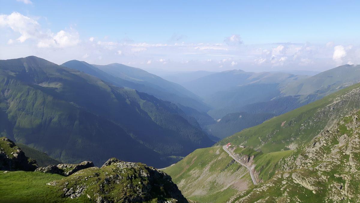 Transfagarasan Highway Below