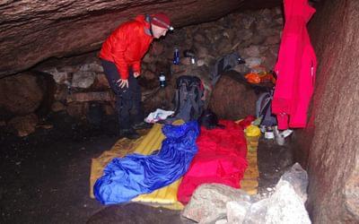 Bivi Under The  Shelter  Stone  Cairngorms