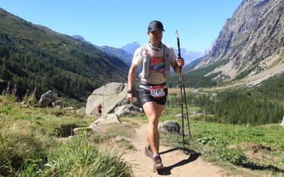 Climbing The  Grand  Col  Ferret On  Utmb