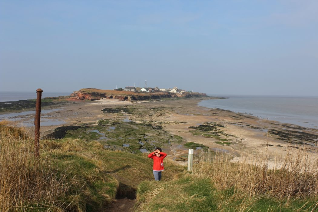 walking on the strait to Hillbre