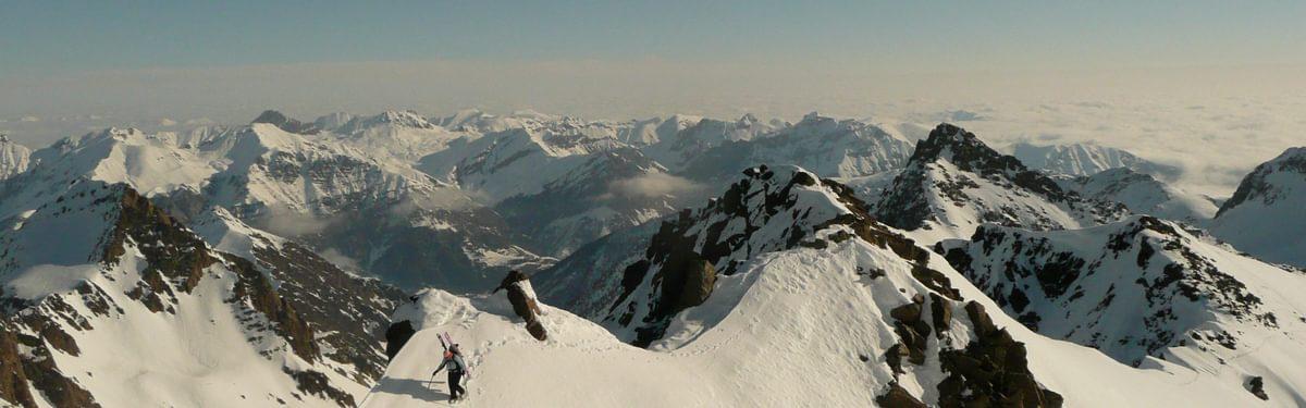 Ski touring in the Mercantour