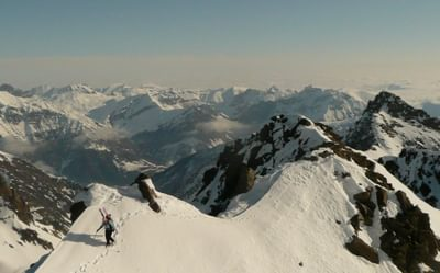 Ski touring in the Mercantour