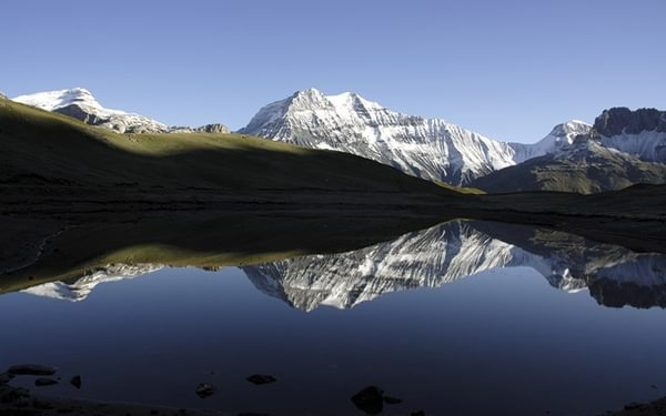 La Grande Casse, in the heart of the Vanoise, reflected in a lake on the way to the Refuge du Plan du Lac (Day 13 of the GR5)