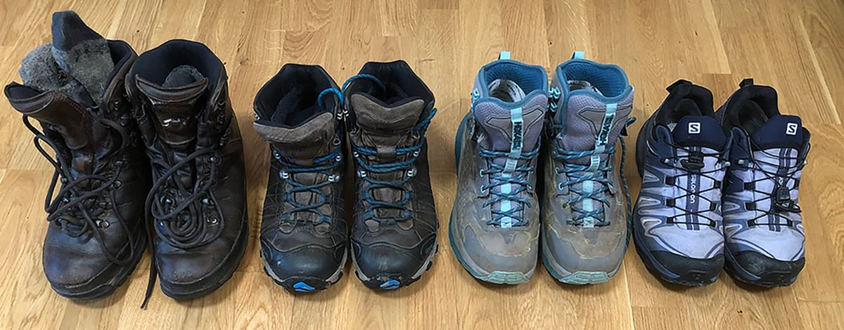 Boots and trail shoes