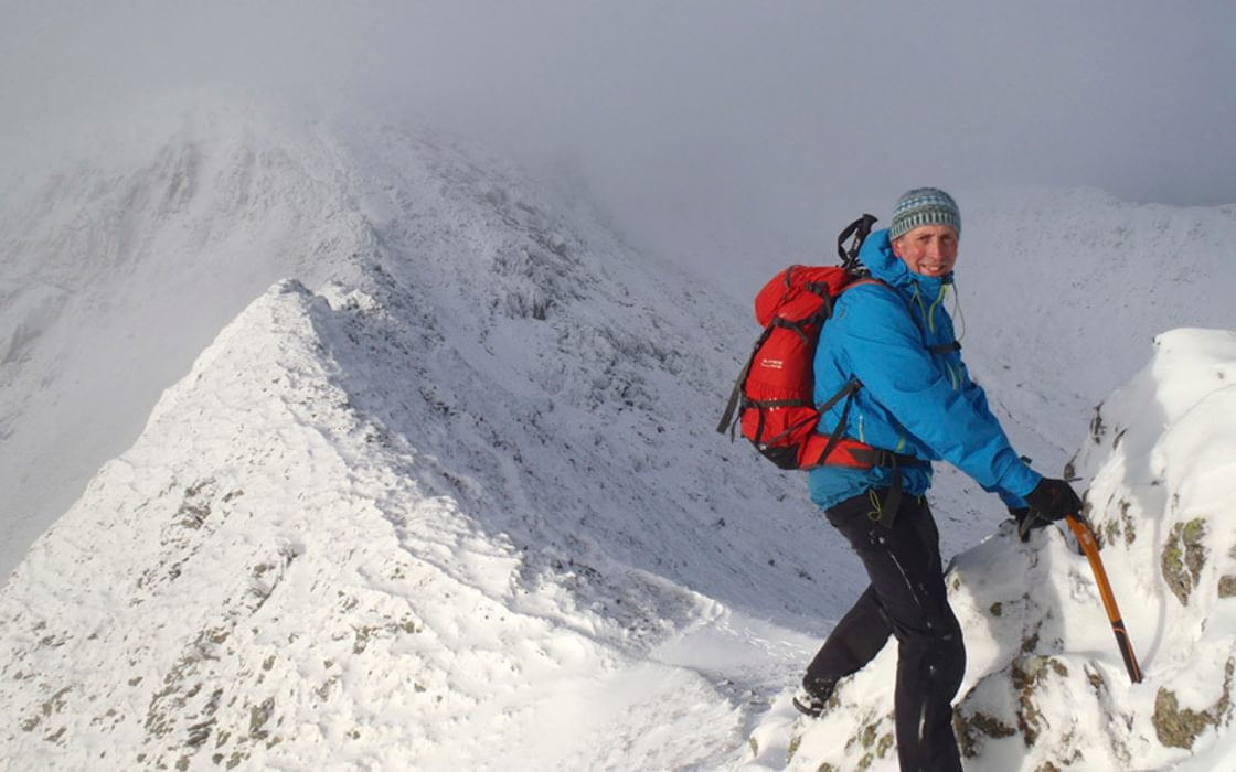 Striding Edge winter
