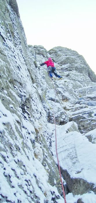 Green Gable climb in winter