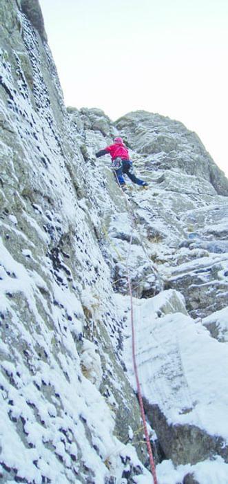 Green Gable climb in winter