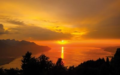 Sunset over Lac Leman from Sonchaux