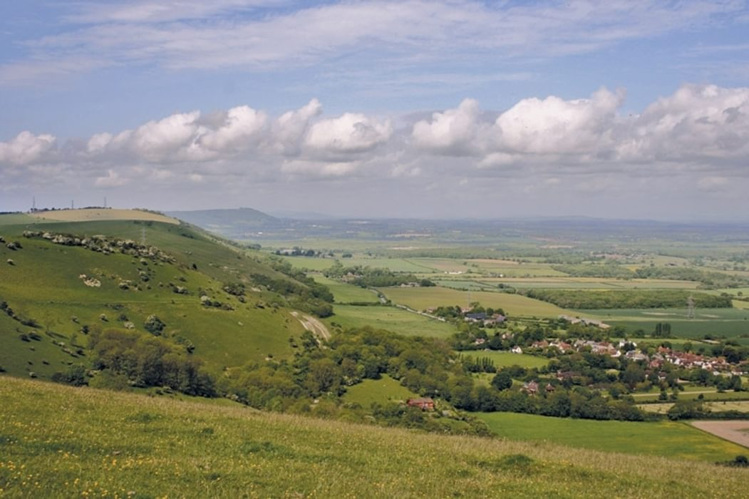 The South Downs Way has excellent views like this spot along the Fulking escarpment near Devil's Dyke