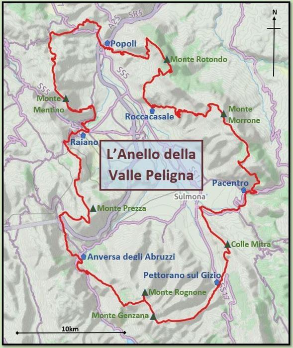 Sulmona Valley Loop route