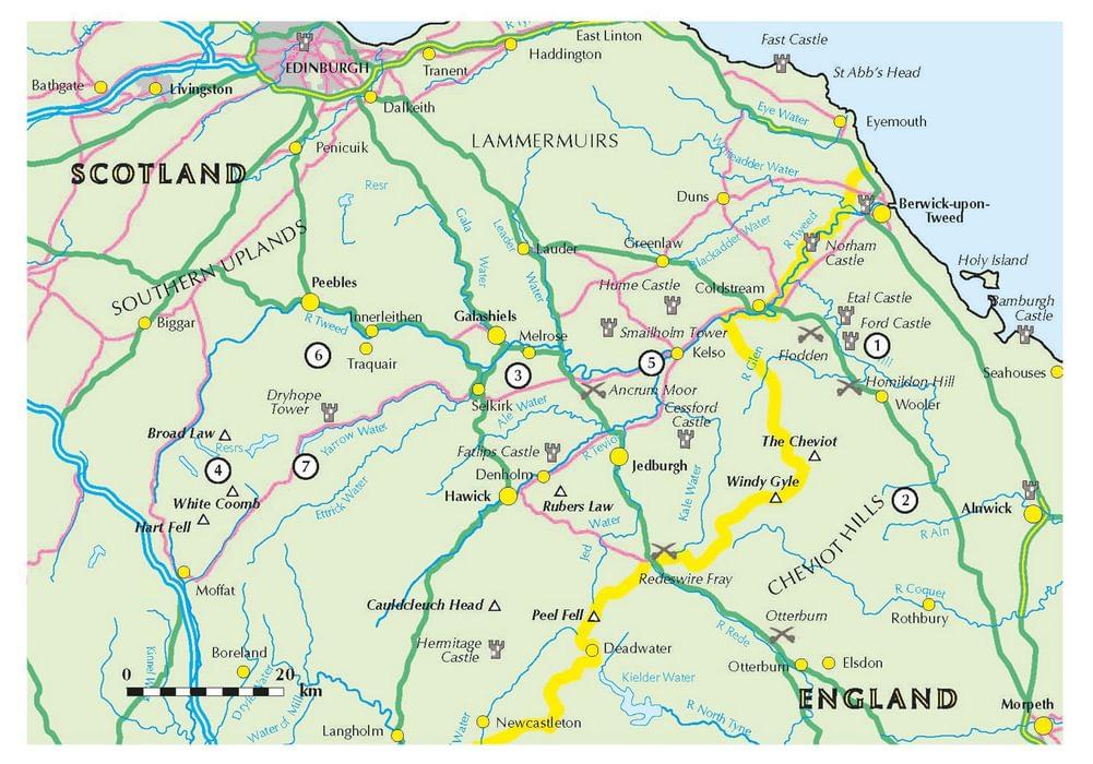 Bordering map