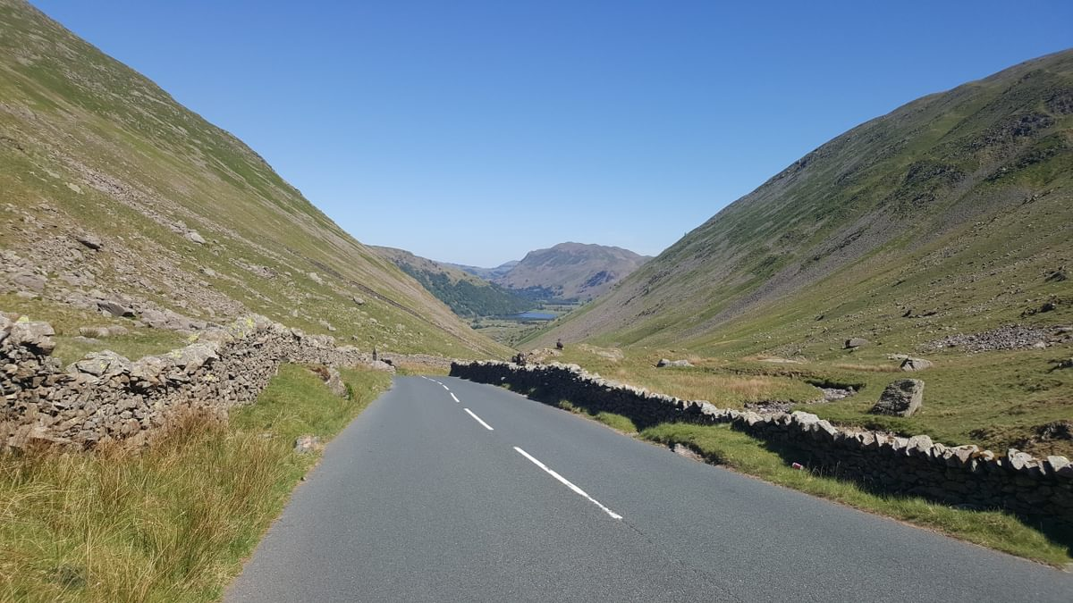For Day 2 Helvellyn 1 Caption Heading north down Kirkstone Pass