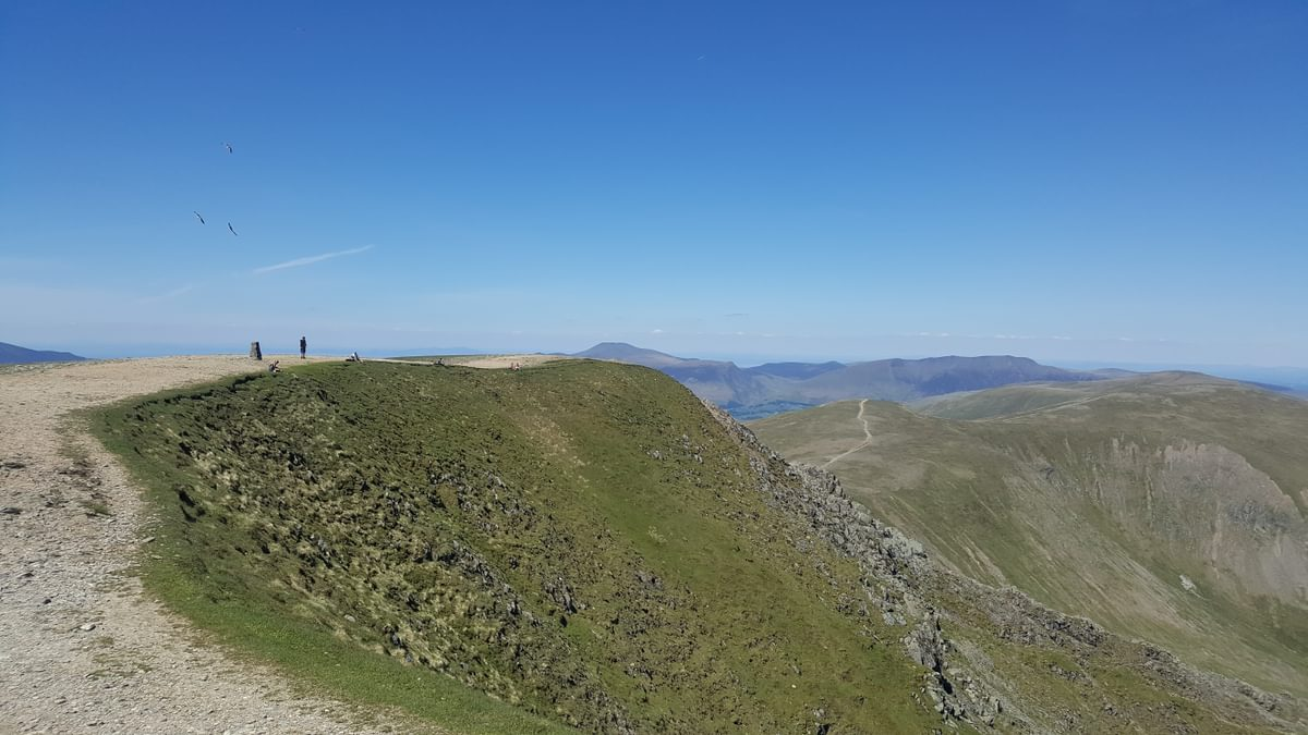 For Day 2 Helvellyn 3 Caption Social distancing on the summit of Helvellyn