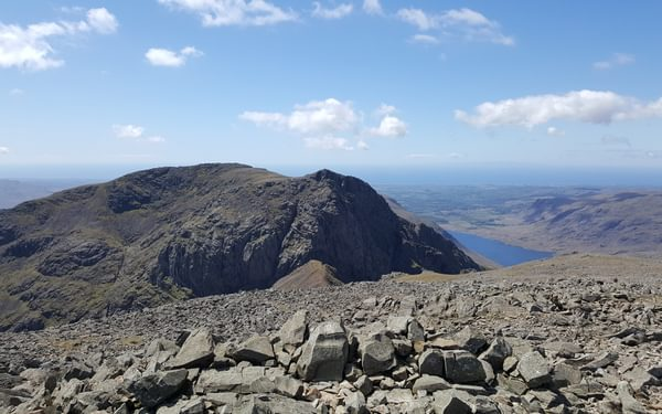 For Day 3 Scafell 3 Caption Sca Fell and Symonds Knott from Scafell Pike