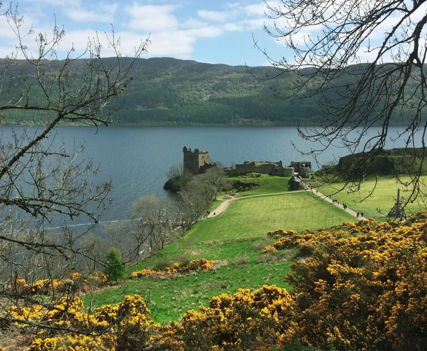 Catching a glimpse of Urquhart Castle before setting off on the last stage of the Great Glen Way