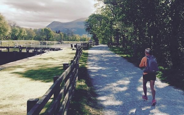Running along the Caledonian Canal between Fort William and Gairlochy