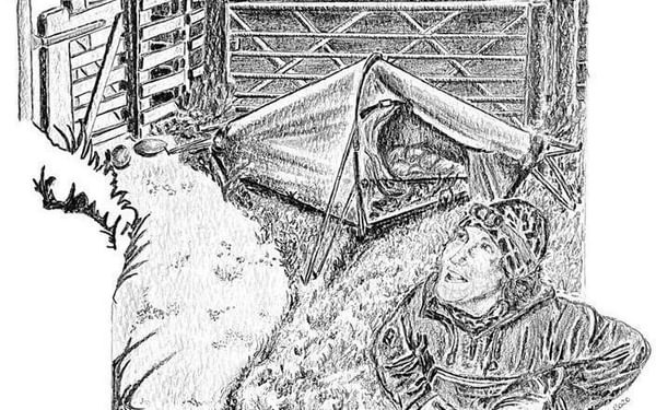 The joys of camping wild: illustration by Zoe Langley-Wathen