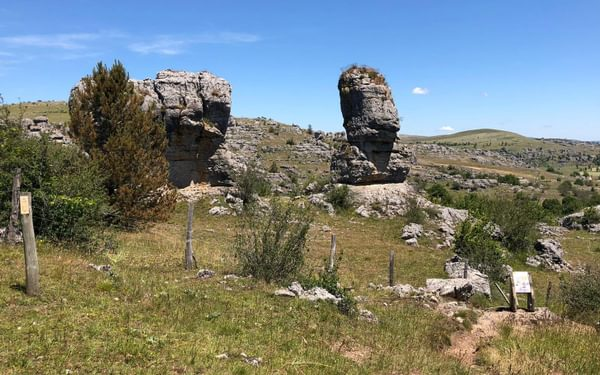 rock formations on the Chaos de Nimes