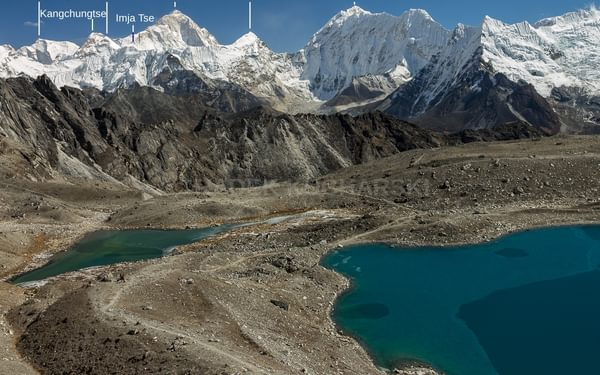 Imja Khola valley seen from Kongma La