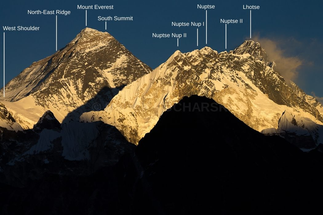 Mount Everest, Nuptse and Lhotse