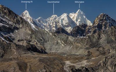 Peaks of Rolwaling Himal