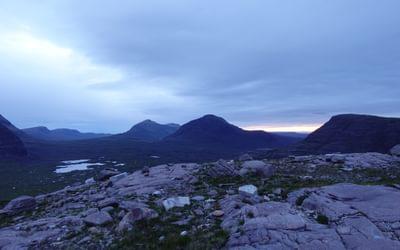 Evening light and the Torridon mountains