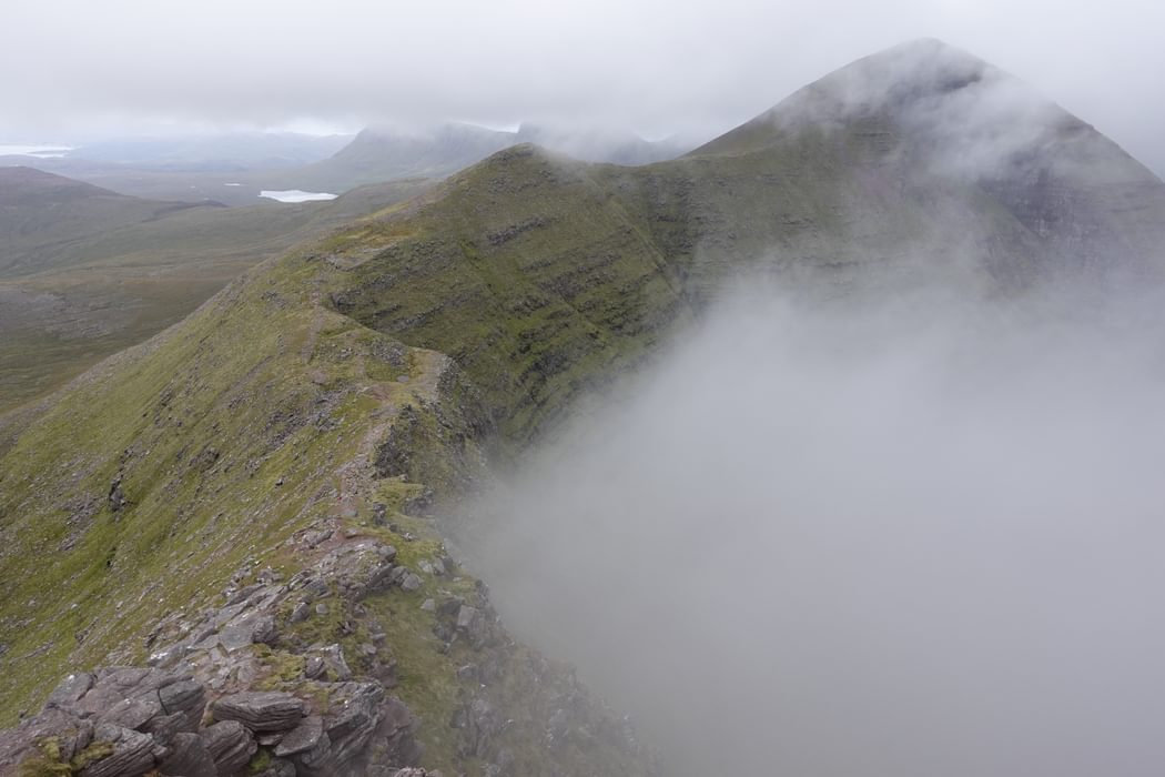 The wonderful walkers' ridgeline making its way to Sgurr Mor on Beinn Alligin provides a straightforward route