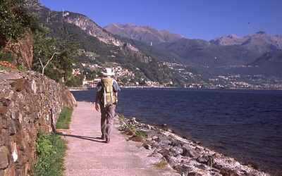 Paths following the lakeshore of Lake Como