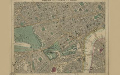 Stanfords Library Map of London Sheet 10 Colour 1862 ES0019
