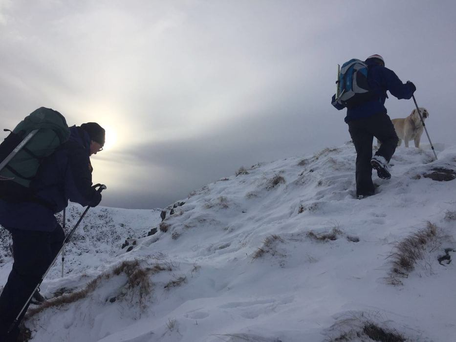 An easy path can become more challenging under snow