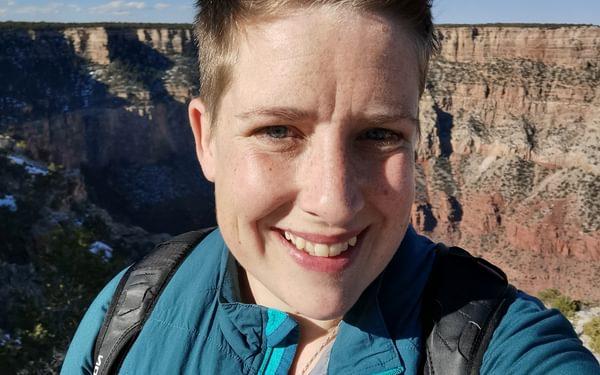 Hannah at the Grand Canyon