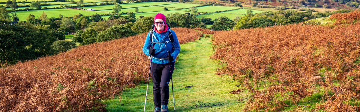 Lesley exploring the Lake District