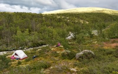 Camping on unfenced land is allowed anywhere in Norway, provided you are 150m away from any building
