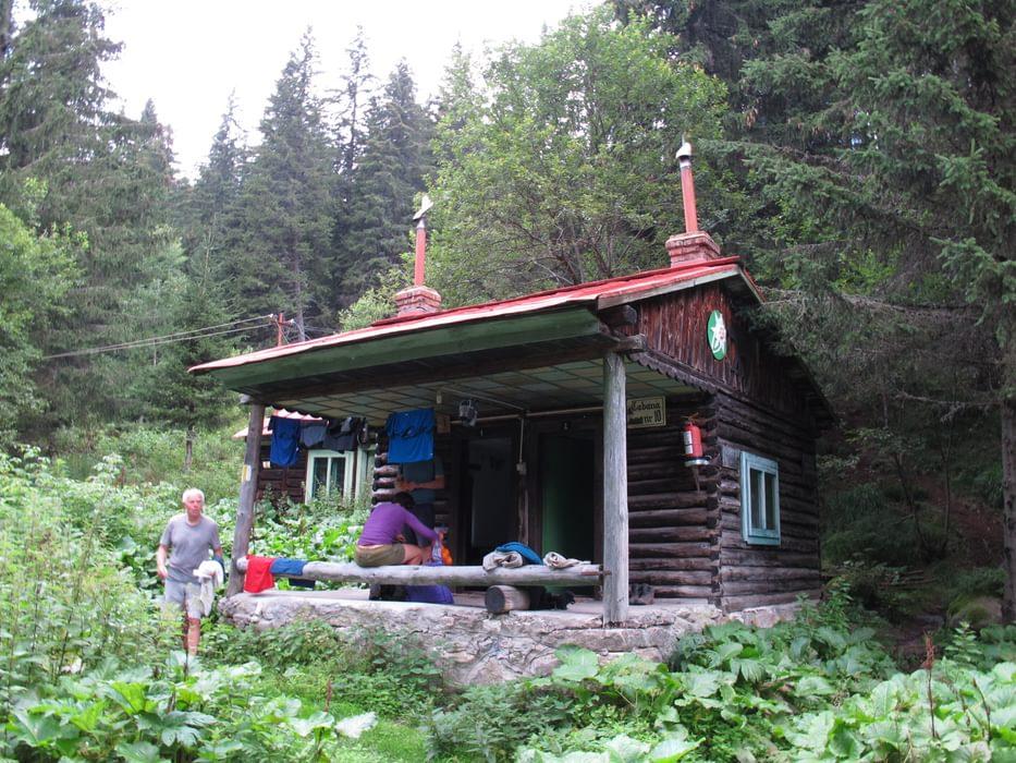 Picturesque 1960s communist-era wooden cabins