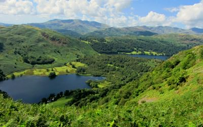 Rydal and Grasmere from Nab Scar