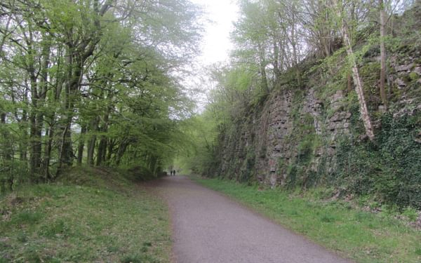 The Monsal Trail an old railway line repurposed as a bike trail