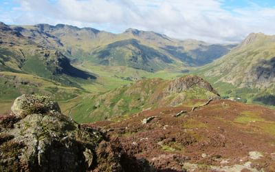 The head of Great Langdale from Lingmoor