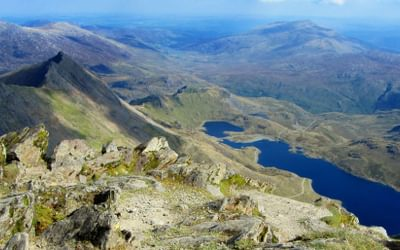 View from the summit of Snowdon