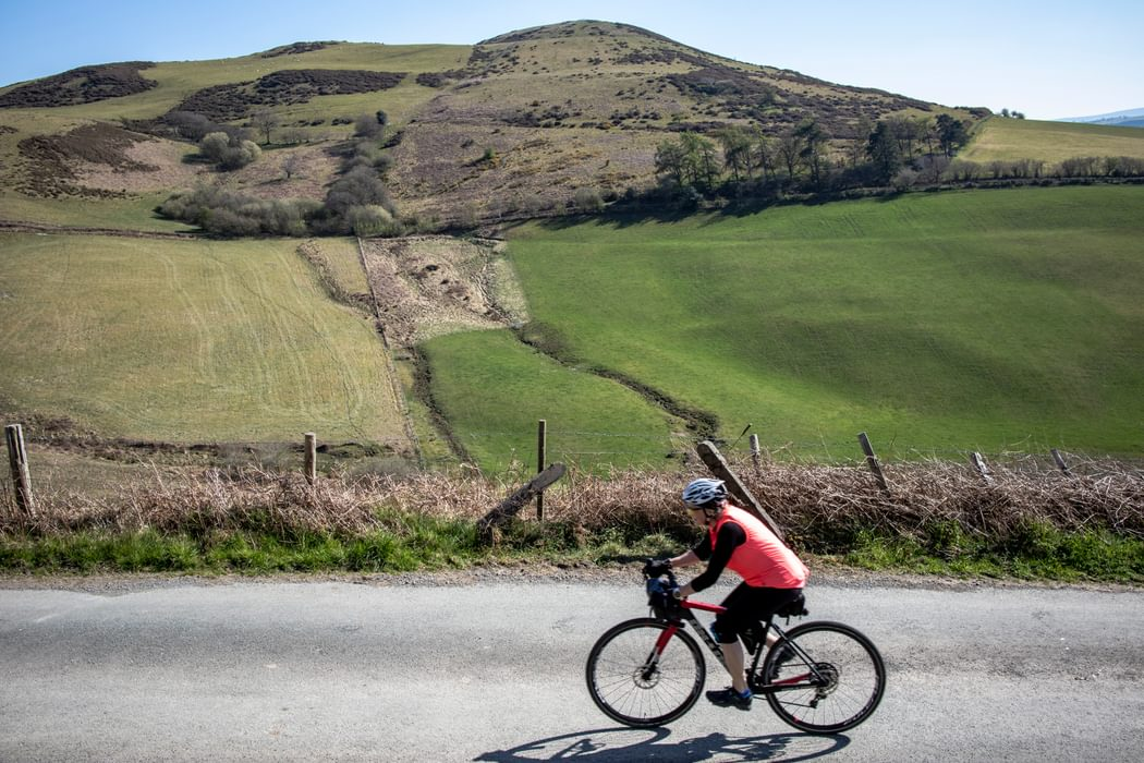 Forgiving gearing makes easy work climbing 'The Shelf' - a notorious climb in the Clwydian Hills in North East Wales